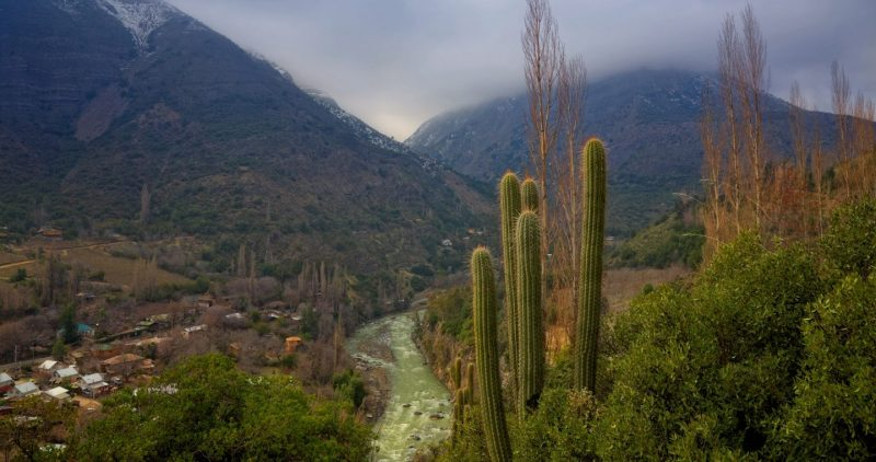Maipo canyon and river