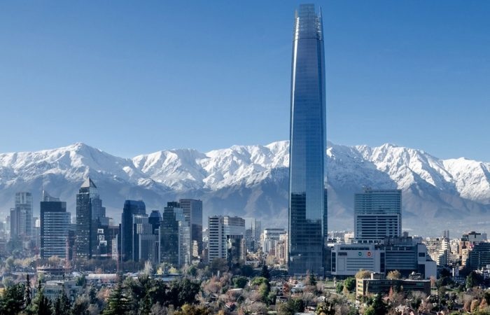 Santiago de Chile and the Andes Mountains